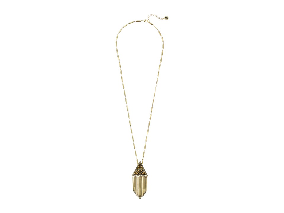 House of Harlow 1960 - Golden Hour Fringe Pendant Necklace (Gold) Necklace