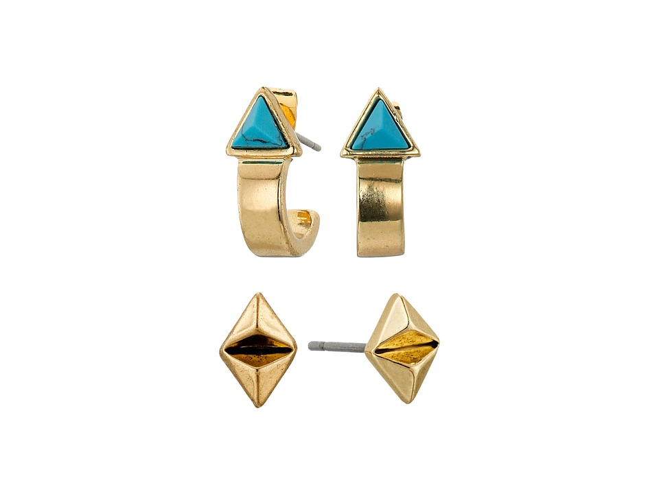 House of Harlow 1960 - Telluride Earrings Set (Turquoise) Earring