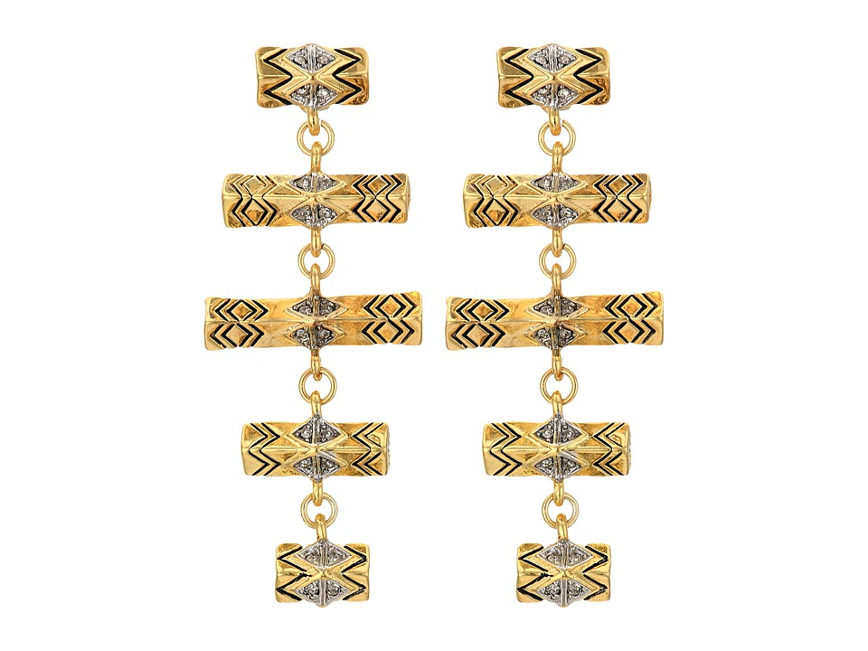 House of Harlow 1960 - Anza Drop Earrings (Gold/Silver) Earring