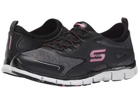 SKECHERS - Gratis - High-Soaring (Black) Women's Lace up casual Shoes