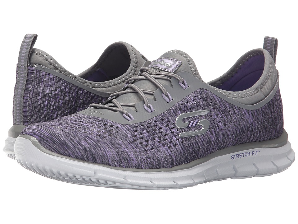 SKECHERS - Glider - Deep Space (Gray/Lavender) Women's Lace up casual Shoes