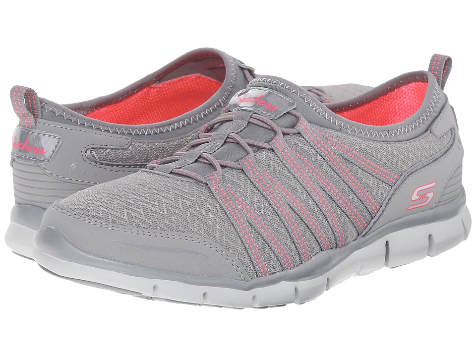 SKECHERS - Glider - Zag (Gray) Women's Lace up casual Shoes