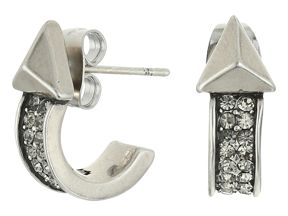 House of Harlow 1960 - Dakota Hoop Earrings (Silver) Earring