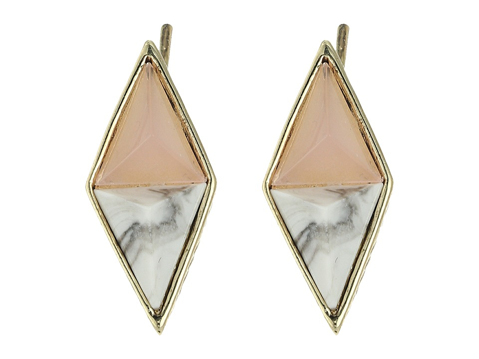 House of Harlow 1960 - The Flip Side Ear Crawler Earrings (Pink) Earring