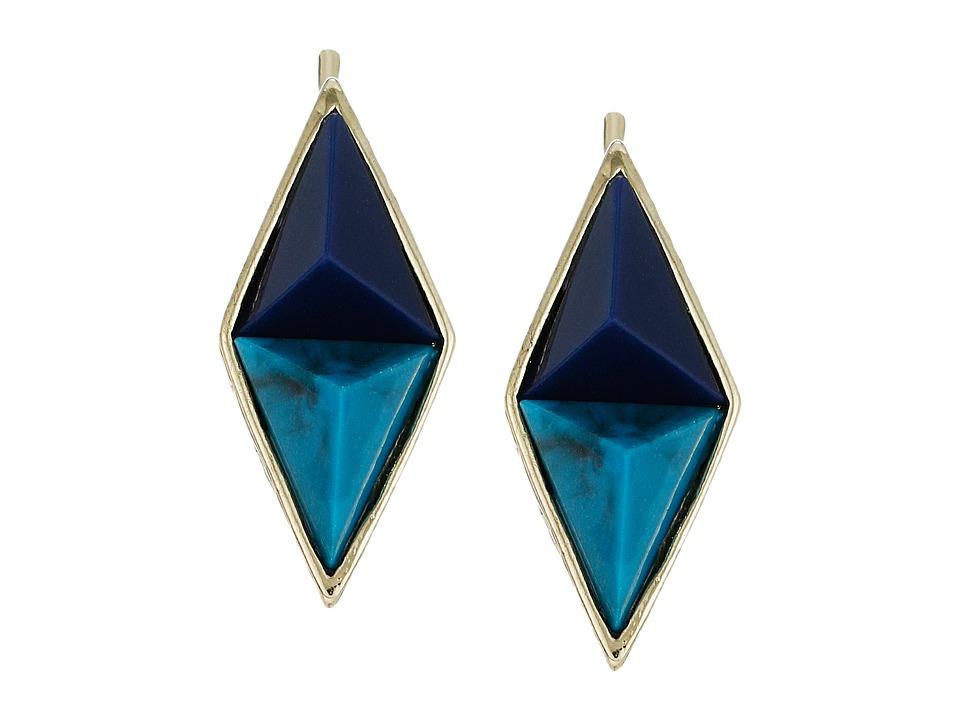 House of Harlow 1960 - The Flip Side Ear Crawler Earrings (Blue) Earring