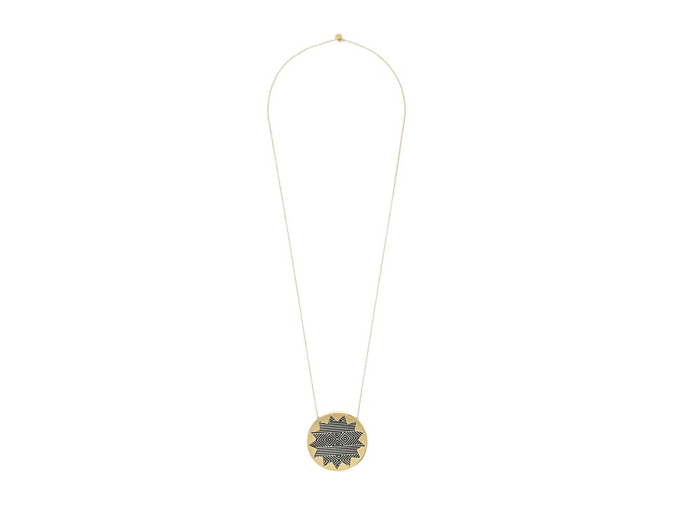 House of Harlow 1960 - Engraved Sunburst Pendant Necklace (Gold/Silver) Necklace
