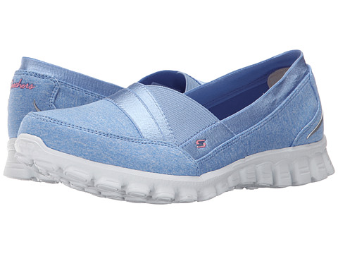 SKECHERS - EZ Flex 2 - Fascination (Lite Blue) Women's Slip on Shoes