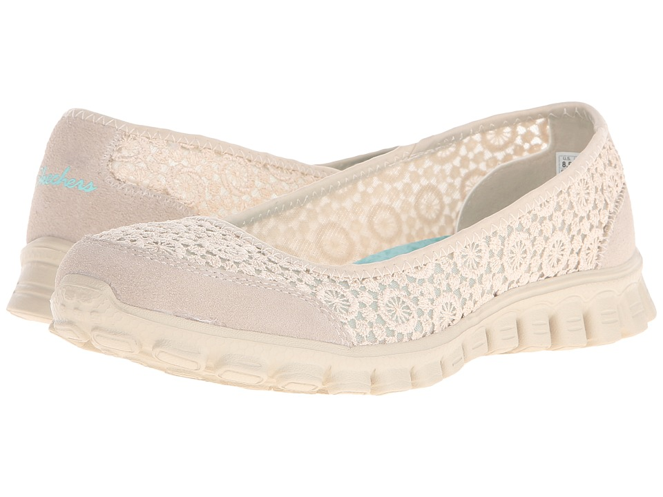 SKECHERS - EZ Flex 2 - Flighty (Natural) Women's Slip on Shoes