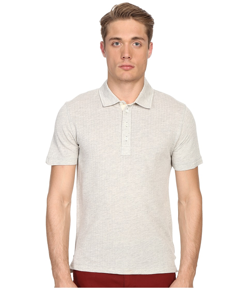 Billy Reid - Smith Polo (Light Grey/Natural) Men's Clothing