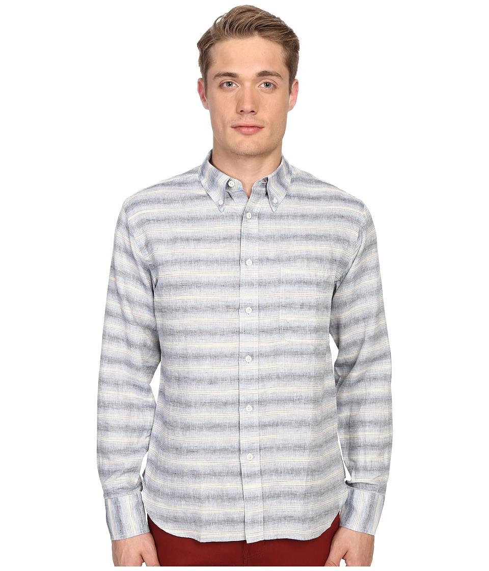 Billy Reid - Tuscumbia Shirt (Iris/Natural) Men's Clothing