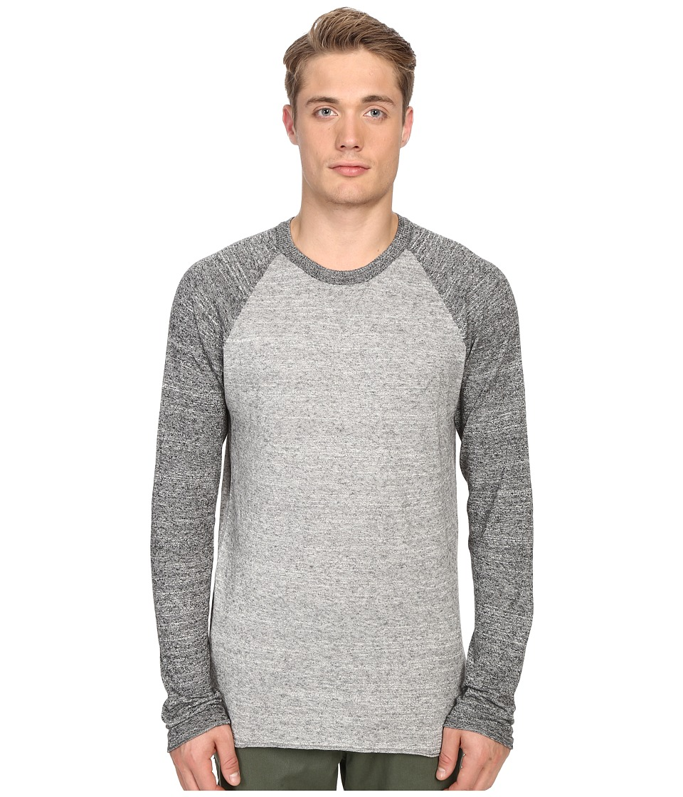 Billy Reid - Jersey Roll Crew (Grey) Men's Sweater