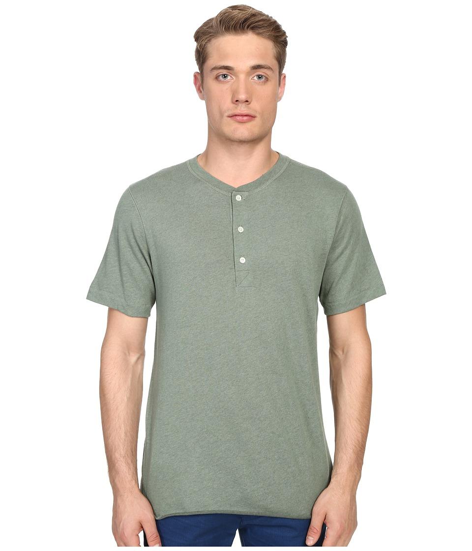 Billy Reid - Short Sleeve Hunter Henley (Bay Green) Men's T Shirt