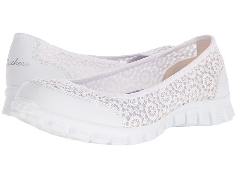 SKECHERS - EZ Flex 2 - Flighty (White) Women's Slip on Shoes