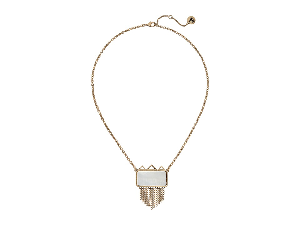 The Sak - Stone Fringe Pendant Necklace 18 (Mother-of-Pearl) Necklace