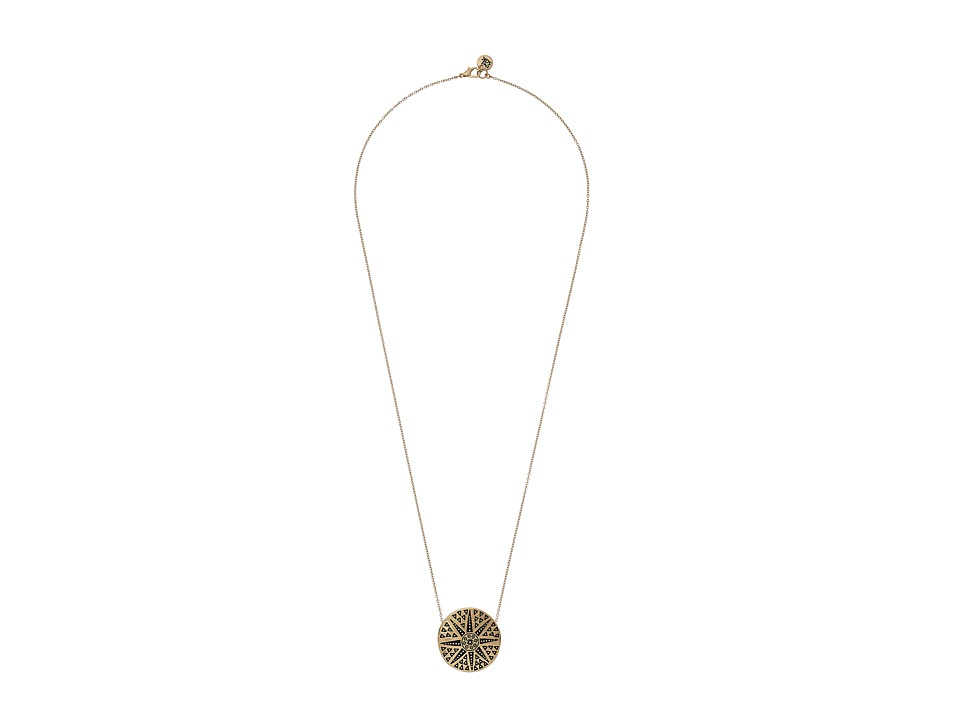 The Sak - Starburst Pendant Necklace 28 (Gold) Necklace