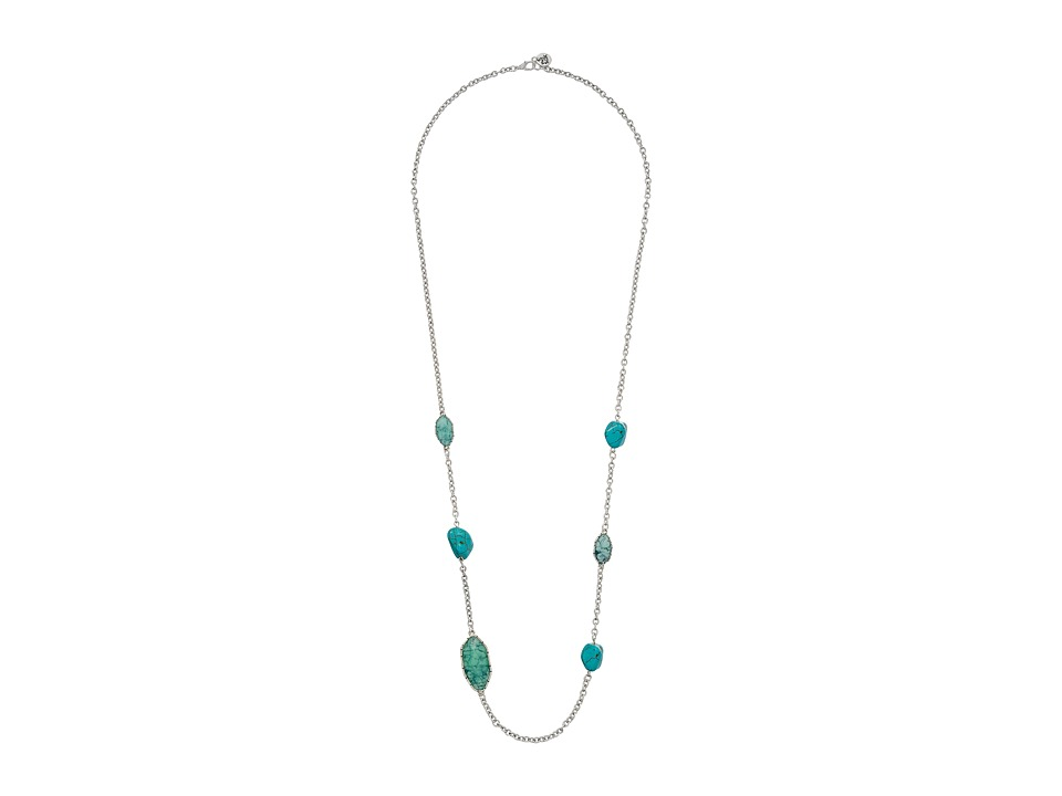 The Sak - Stone Station Necklace 34 (Turquoise) Necklace