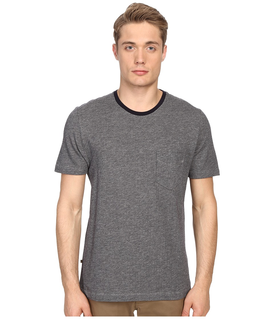 Billy Reid - George T-Shirt Jacquard (Navy/Light Grey) Men's T Shirt