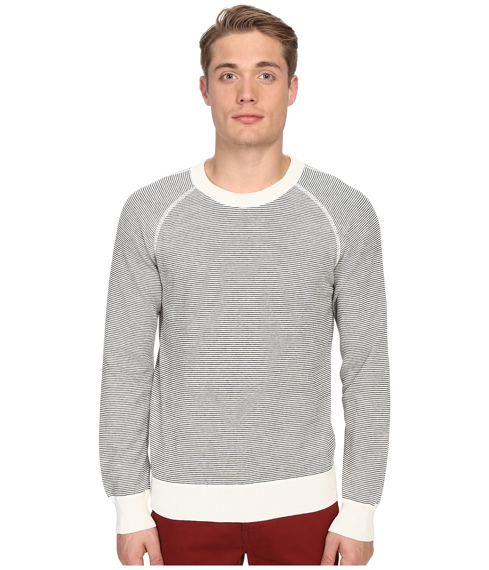 Billy Reid Stripe Crew Sweater (Natural) Men