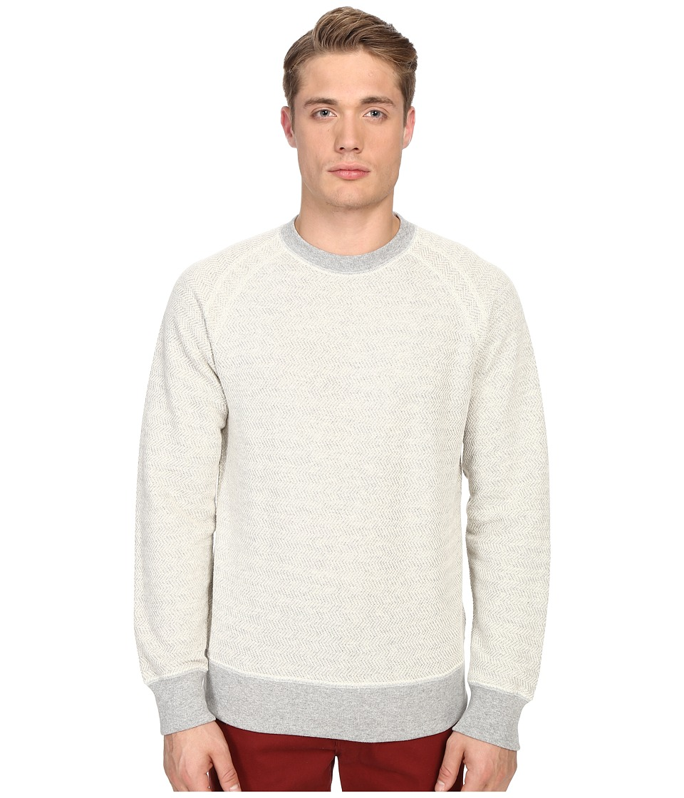 Billy Reid - Aaron Long Sleeve Crew (Light Grey) Men's Sweatshirt