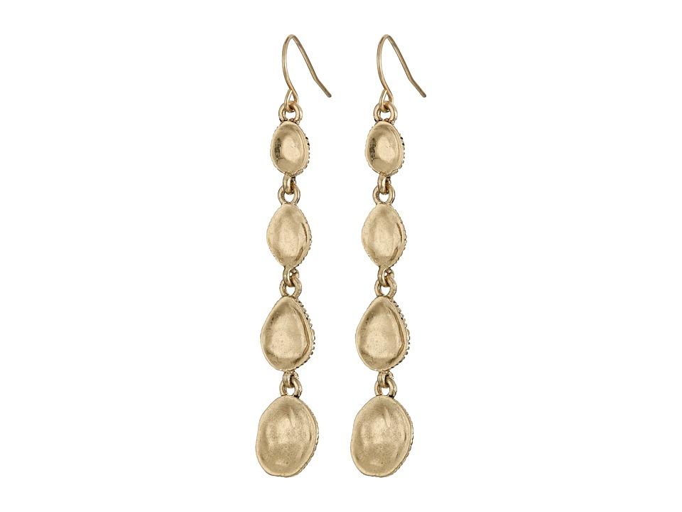 The Sak - Metal Scoop Linear Earrings (Gold) Earring