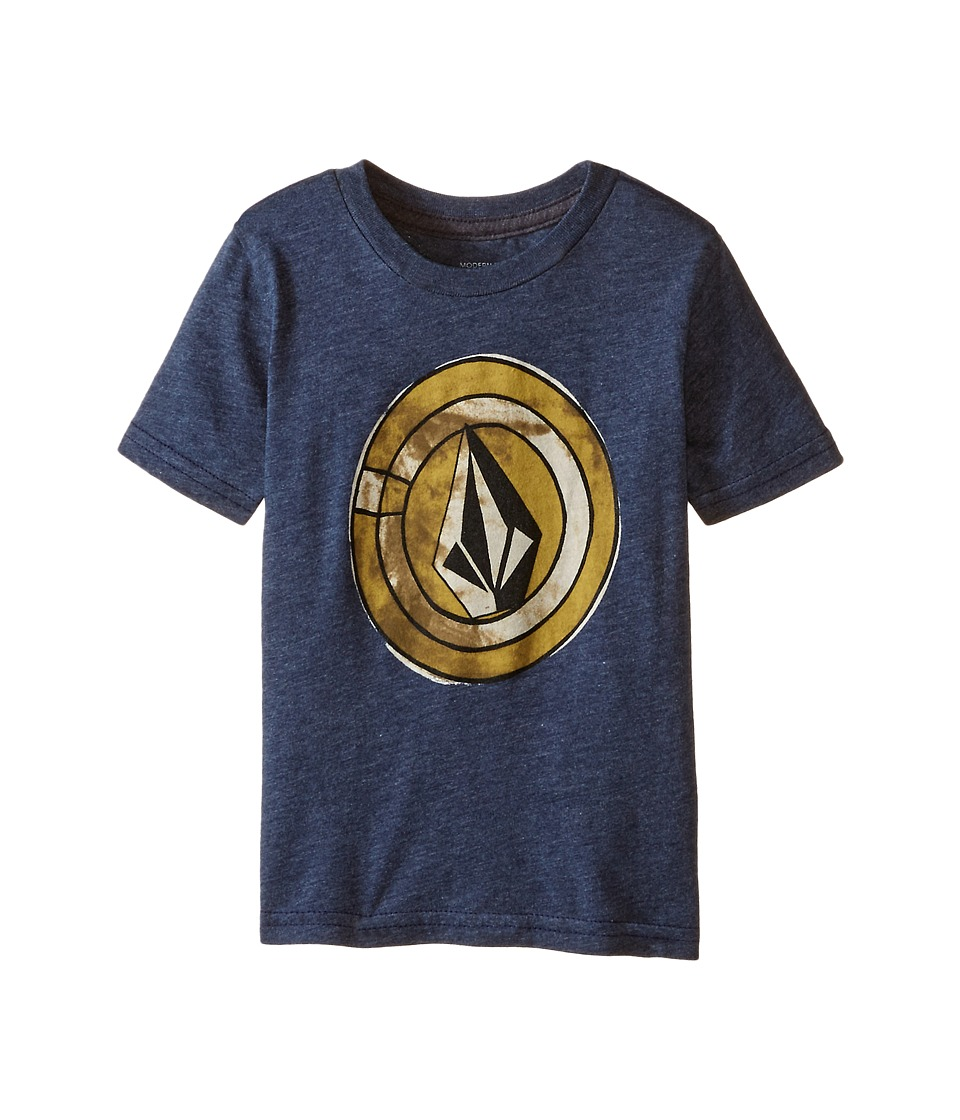 Volcom Kids - Afro Circle Short Sleeve Tee (Toddler/Little Kids) (Navy) Boy's T Shirt