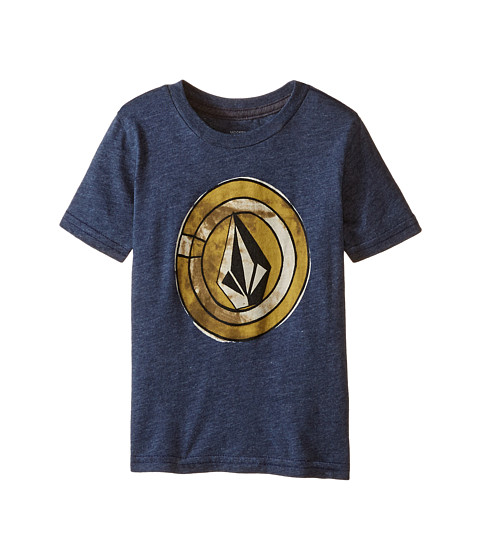 Volcom Kids - Afro Circle Short Sleeve Tee (Toddler/Little Kids) (Navy) Boy