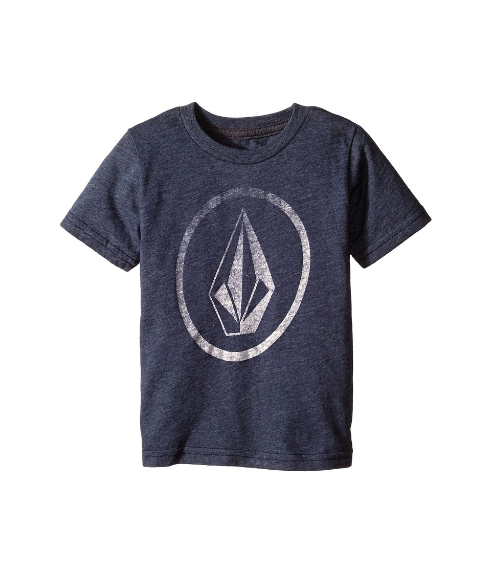 Volcom Kids - New Circle Short Sleeve Tee (Toddler/Little Kids) (Navy) Boy's T Shirt