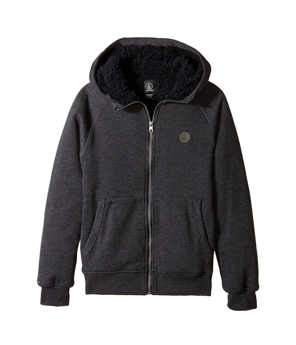 Volcom Kids - Pulli Zip Lined (Big Kids) (Black) Boy's Fleece
