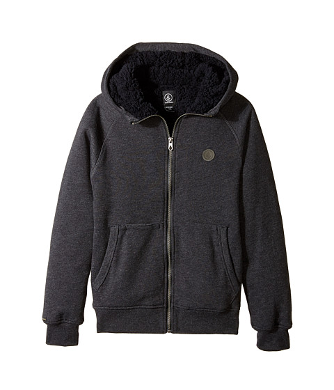 Volcom Kids - Pulli Zip Lined (Big Kids) (Black) Boy