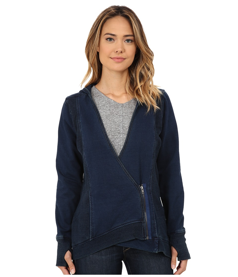 Miraclebody Jeans - Hooded Jacket (Indigo Blue) Women's Jacket