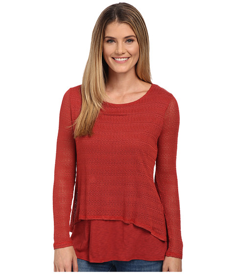 Miraclebody Jeans - Casey Crop Jacquard Sweater w/ Body-Shaping Inner Shell (Scarlet Red) Women