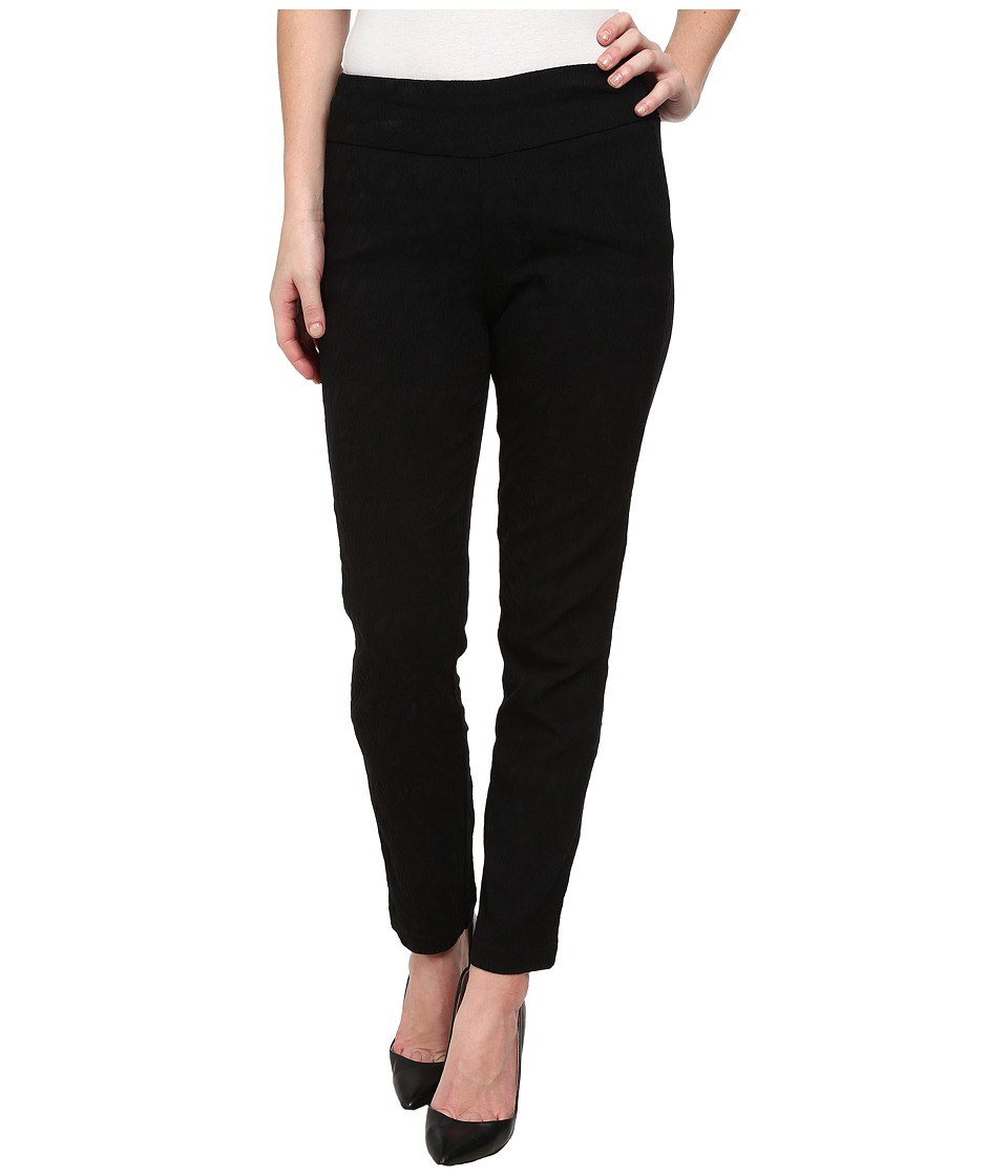 Miraclebody Jeans - Janis Lace Jacquard Pull-On Pants (Black) Women's Casual Pants