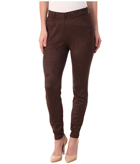 Miraclebody Jeans - Gia Stretch Suede Leggings (Brown) Women