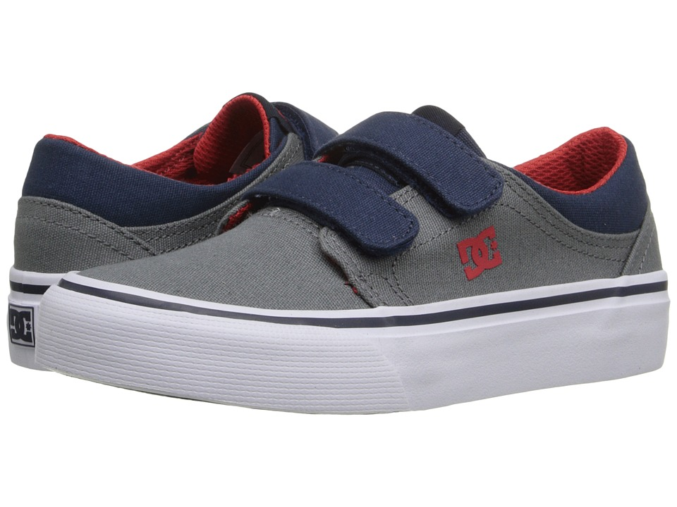 DC Kids - Trase V (Little Kid) (Grey/Dark Navy) Boys Shoes