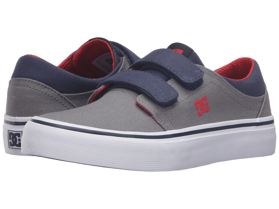 DC Kids - Trase V (Big Kid) (Grey/Dark Navy) Boys Shoes