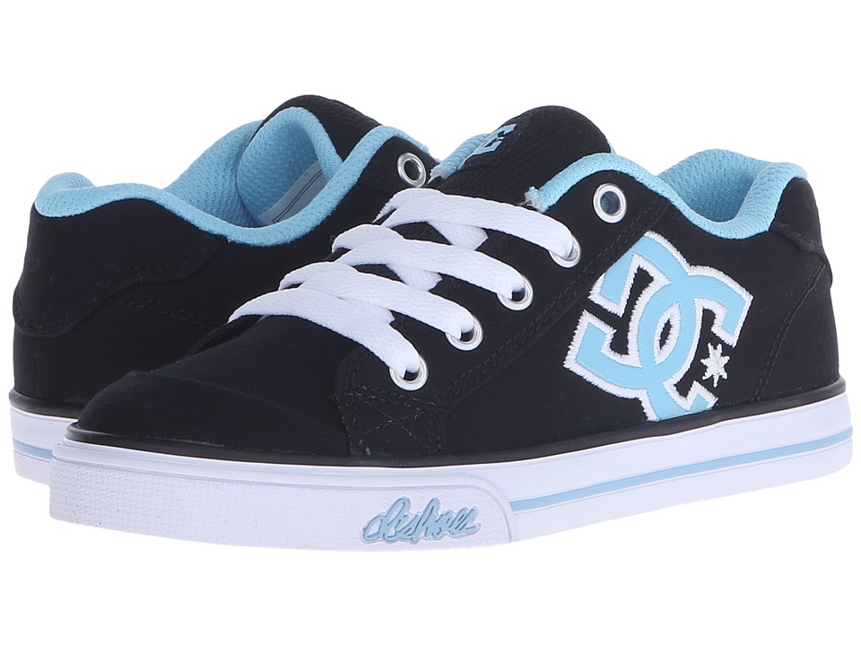 DC Kids - Chelsea TX (Little Kid) (Black/White/Blue) Girls Shoes