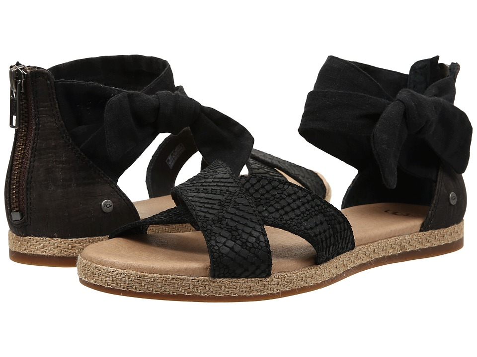 UGG - Idina (Black Suede) Women's Dress Sandals