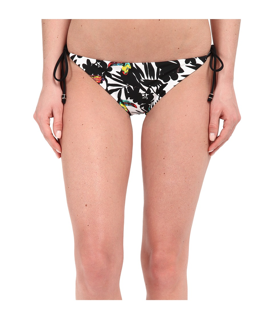Shoshanna Toucans Clean String Bikini Bottoms (Black Multi) Women