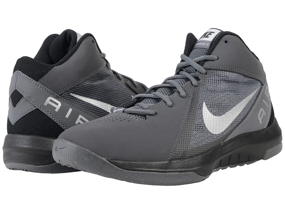 Nike - The Air Overplay IX NBK (Dark Grey/Black/Metallic Silver) Men's Basketball Shoes