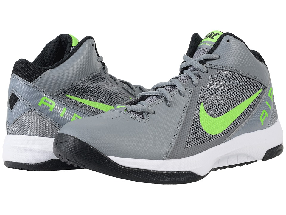 Nike - The Air Overplay IX (Cool Grey/Black/White/Action Green) Men's Basketball Shoes