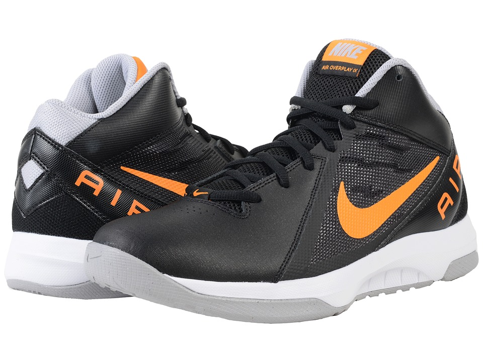Nike - The Air Overplay IX (Black/Wolf Grey/White/Vivid Orange) Men's Basketball Shoes