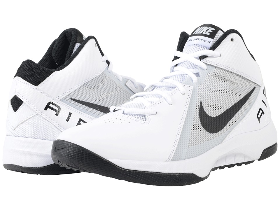 Nike - The Air Overplay IX (White/Pure Platinum/Black) Men's Basketball Shoes
