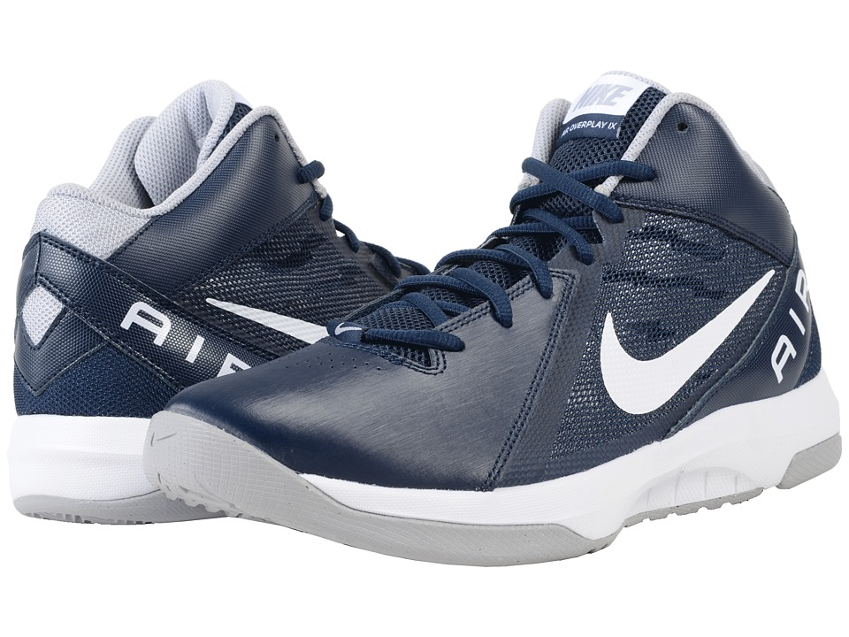 Nike - The Air Overplay IX (Obsidian/Wolf Grey/White) Men's Basketball Shoes