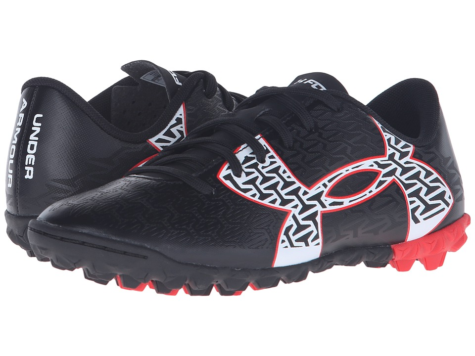 Under Armour Kids - UA B CF Force 2.0 FG Jr. Soccer (Little Kid/Big Kid) (Black/Rocket Red/White) Kids Shoes