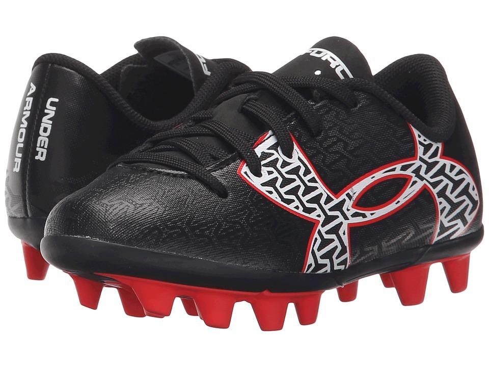 Under Armour Kids - UA B CF Force 2.0 HG Jr. Soccer (Toddler/Little Kid/Big Kid) (Black/Rocket Red/White) Kids Shoes
