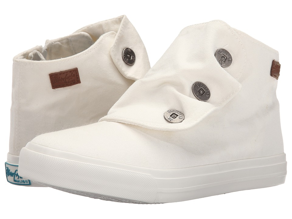 Blowfish - Mabbit (White Color Washed Canvas) Women's Flat Shoes