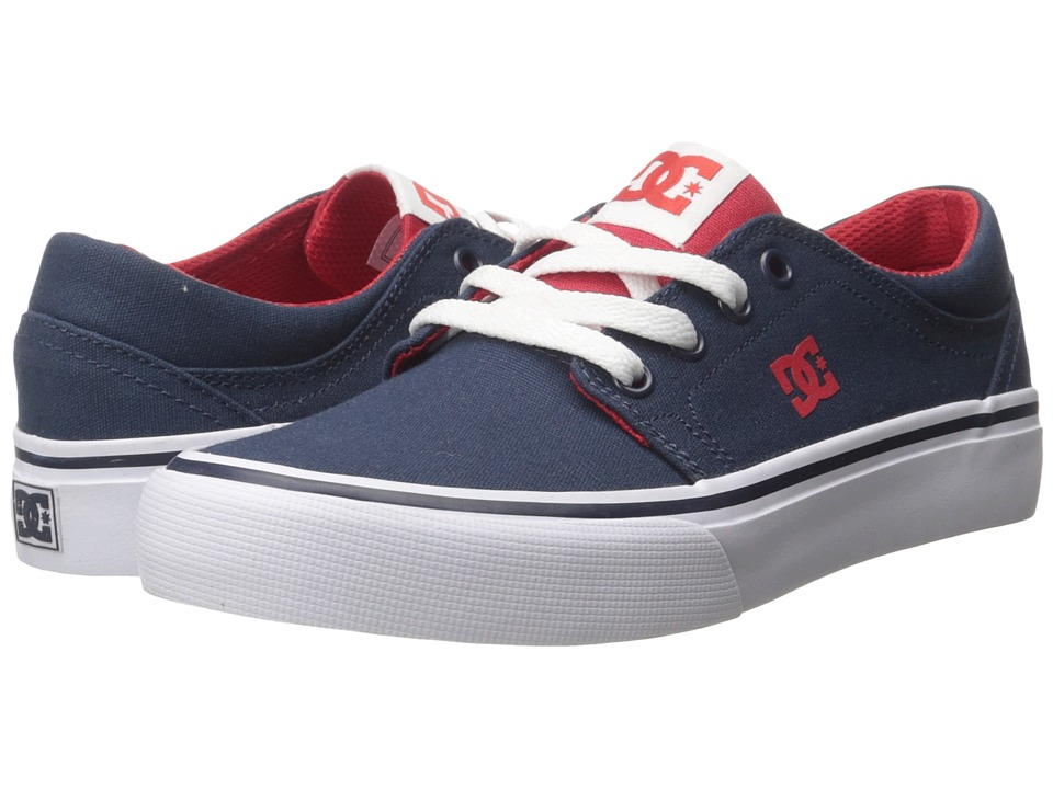 DC Kids - Trase TX (Big Kid) (Navy/Red) Boys Shoes