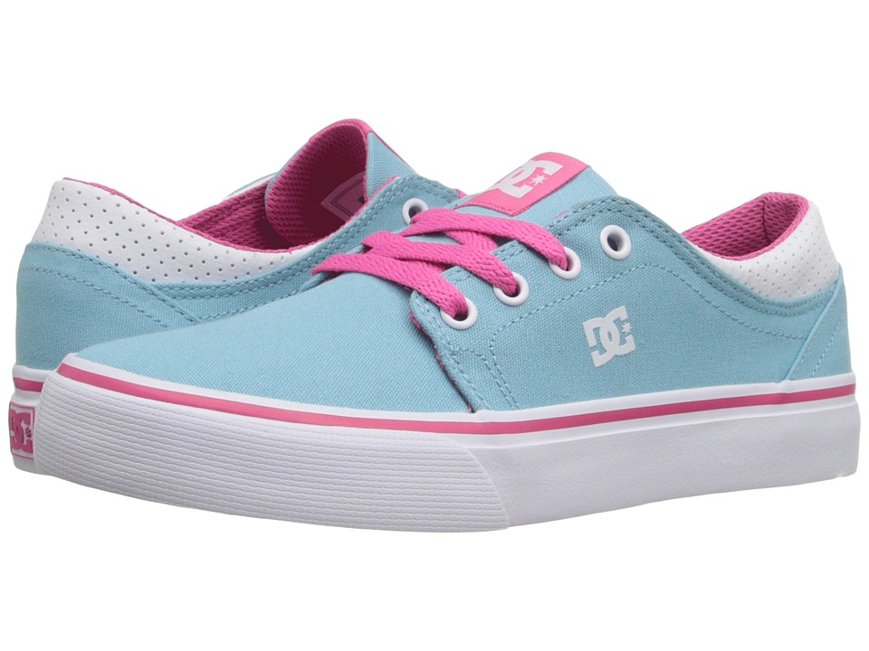 DC Kids - Trase TX (Big Kid) (Cyan/Magenta) Girls Shoes