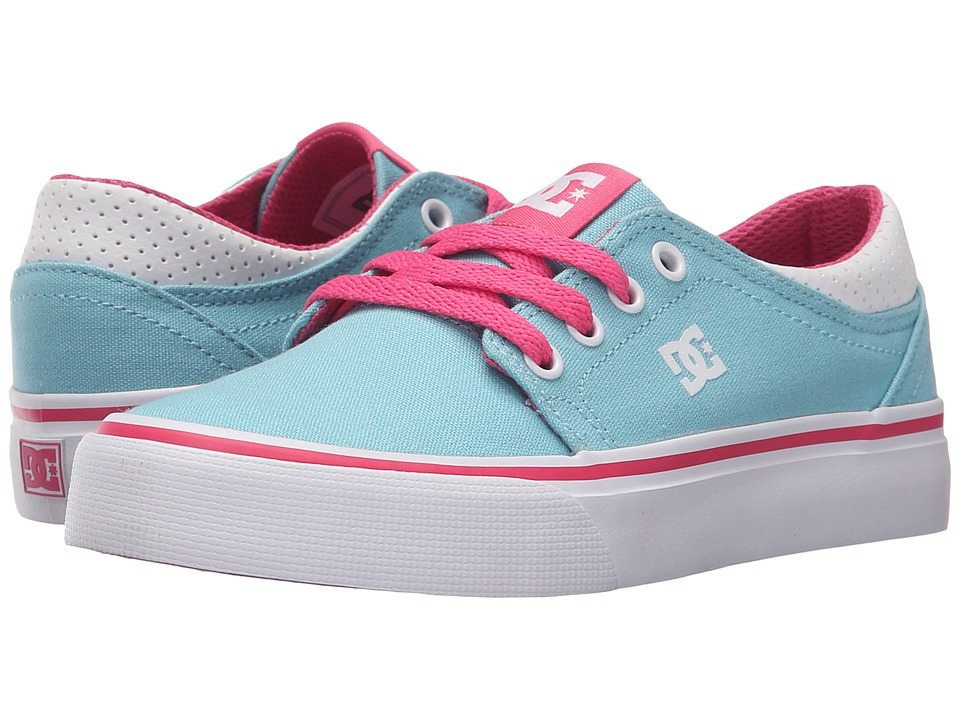 DC Kids - Trase TX (Little Kid) (Cyan/Magenta) Girls Shoes
