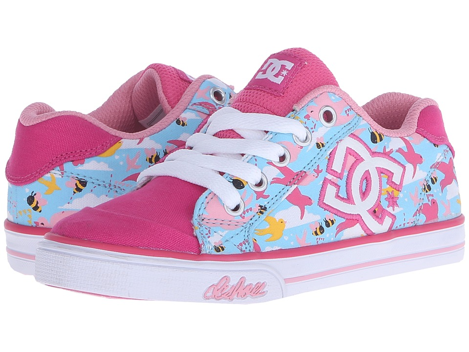 DC Kids - Chelsea Graffik (Little Kid) (Crazy Pink/Blue) Girls Shoes